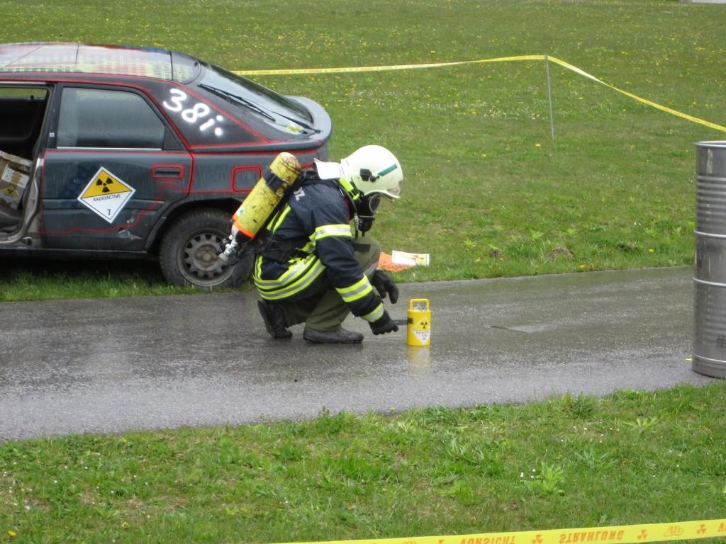 Vermessen eines Versandstückes Typ A nach einem Unfallereignis