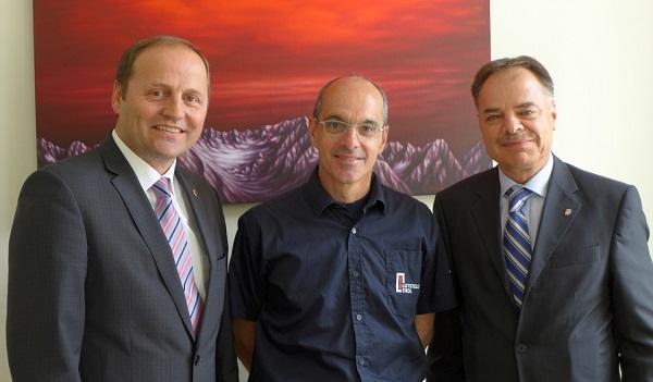 Sicherheitsreferent LHStv Josef Geisler, Bernd Noggler und Aufsichtsratsvorsitzender Herbert Walter