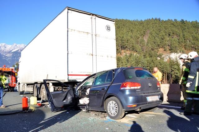 Verkehrsunfall auf der Brennerautobahn