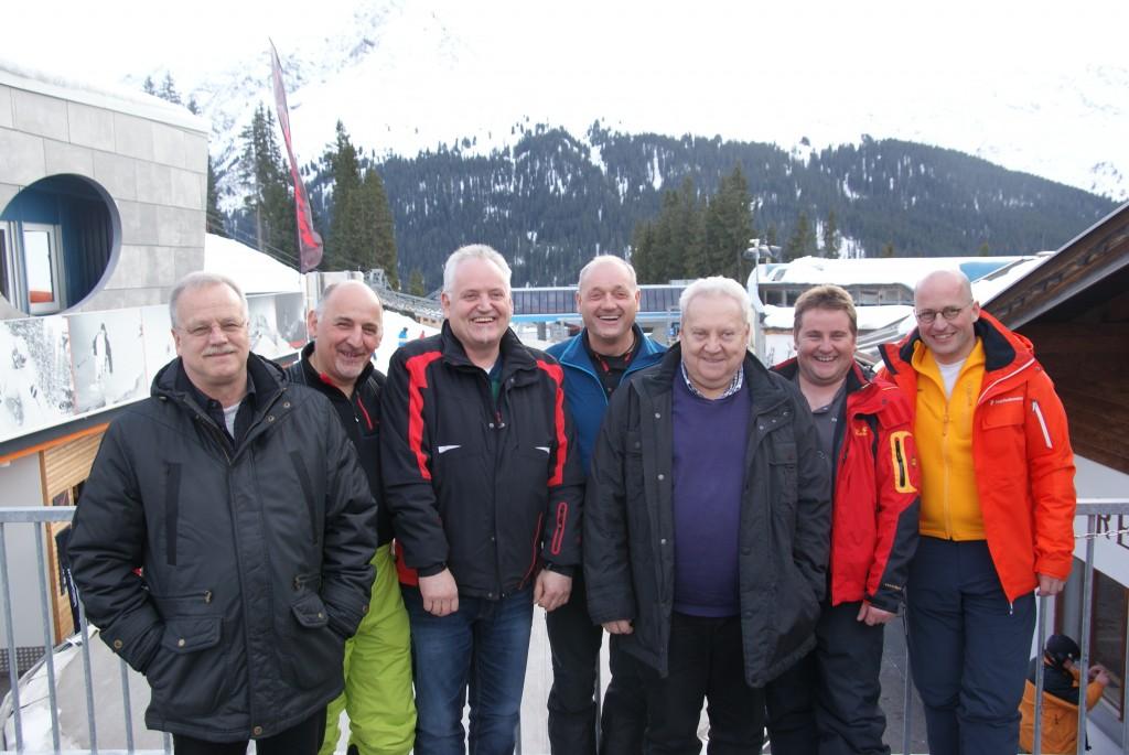 Geschäftsführer Bergbahnen See - Herbert Zangerl, BKDT-Stv. Hubert Senn, BKDT Hermann Wolf, Kdt-Stv. Othmar Zangerl, Bgm. Anton Mallaun, Kdt. Bernhard Spiss, BFI Thomas Greuter