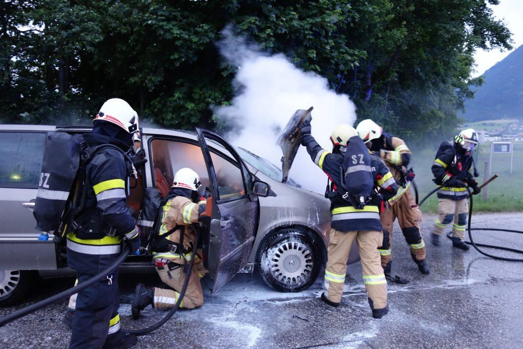 Fahrzeugbrand in Schwaz
