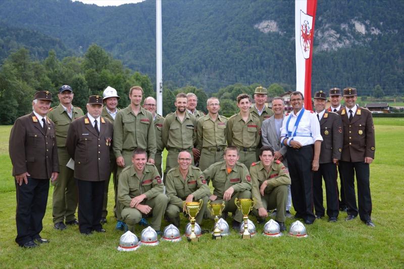 Die Bewerbsgruppe Reith im Alpbachtal 1 feierte den Tages- und Bezirkssieg!