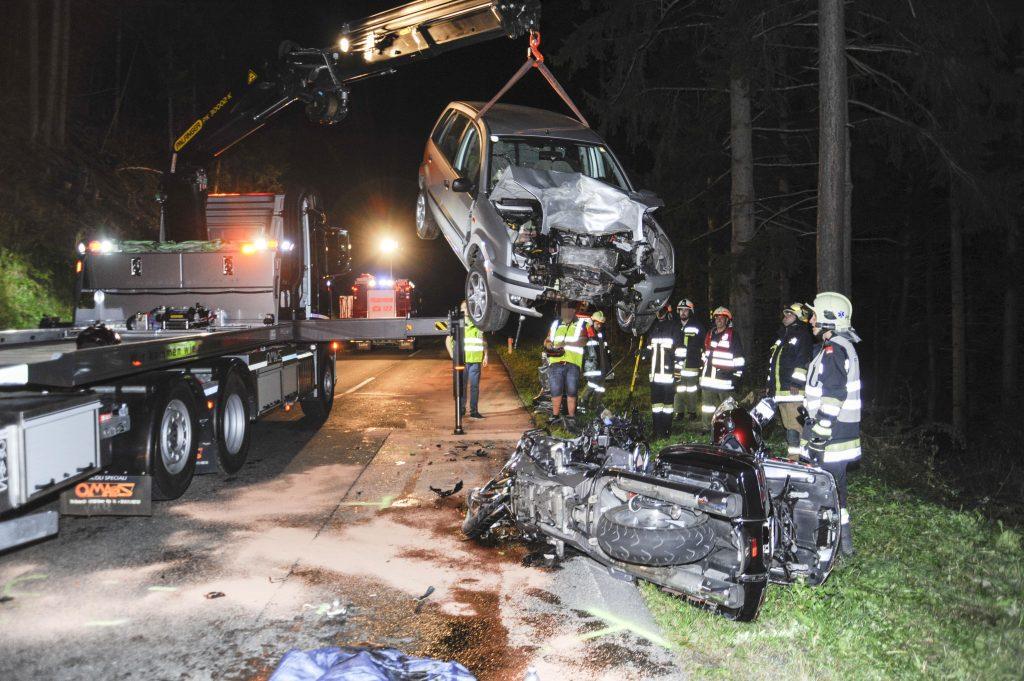 Verkehrsunfall in Pfunds